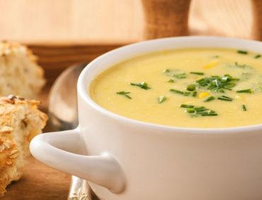 Receitas Especiais – Sopa de Milho e Bacon