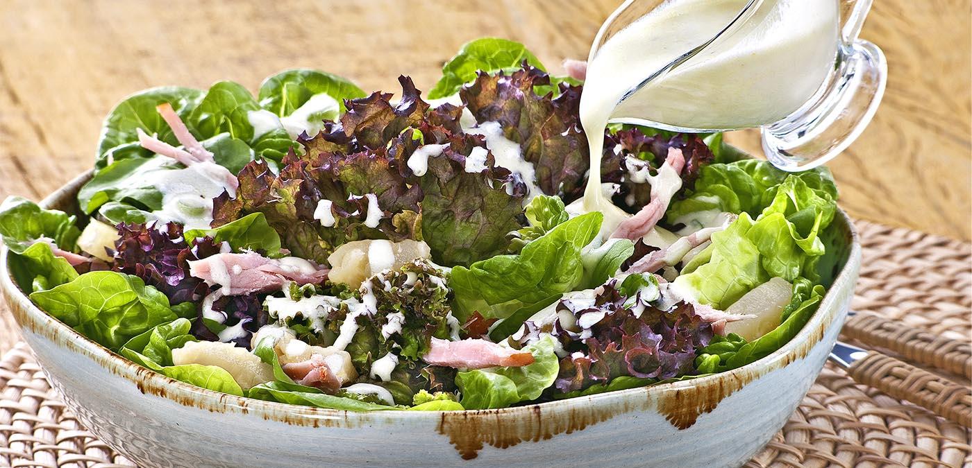Receitas de Primavera – Salada com Lombo Defumado
