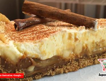 Receitas de Final de Ano – Torta de banana com doce de leite e suspiro